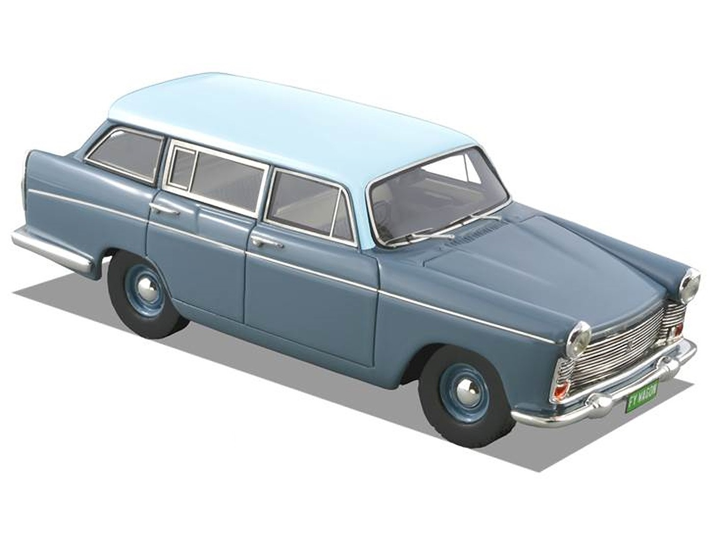 1962 Austin Freeway Wagon – Shadow Blue / Platinum