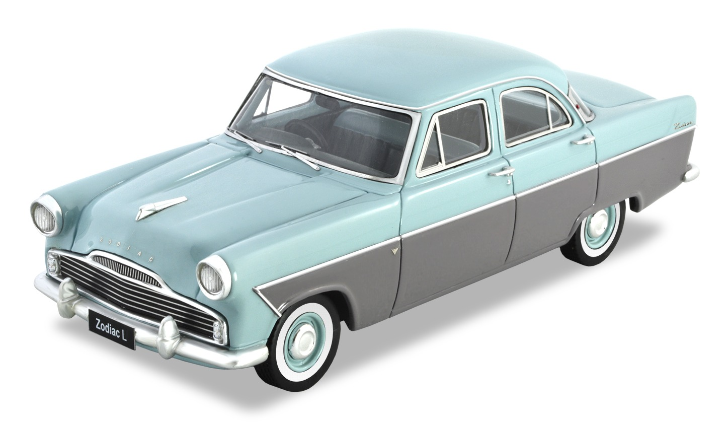 Ford Zodiac Lowline – Emu Grey / Starlight Blue