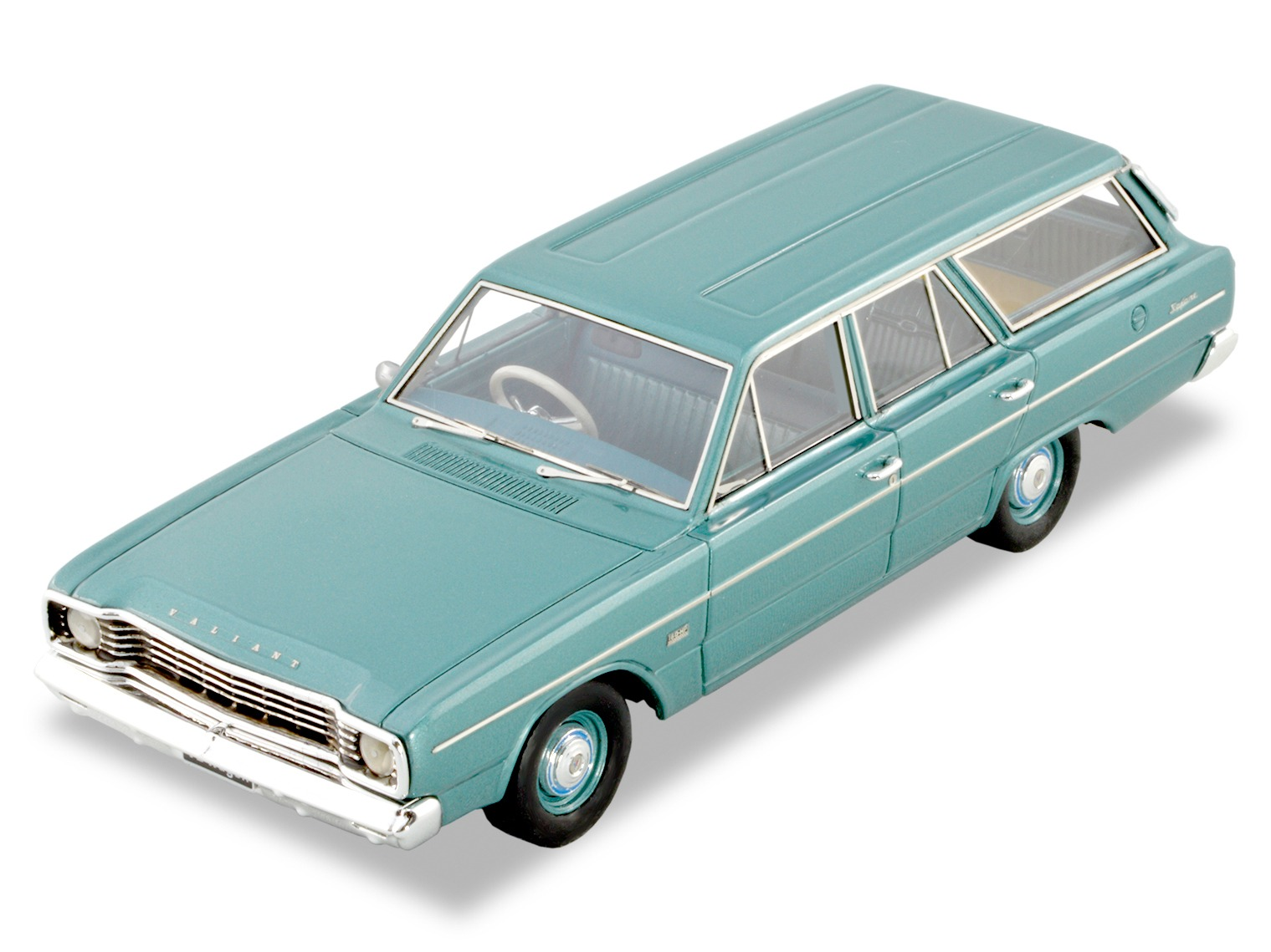 1967 VE Valiant Safari Station Wagon – Medium Turquoise Metallic / Green Aqua Interior