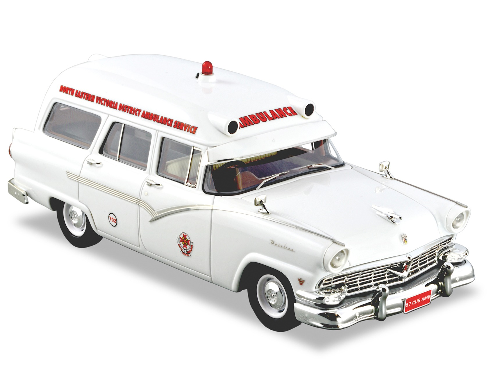 1957 Ford Mainline AMB – White