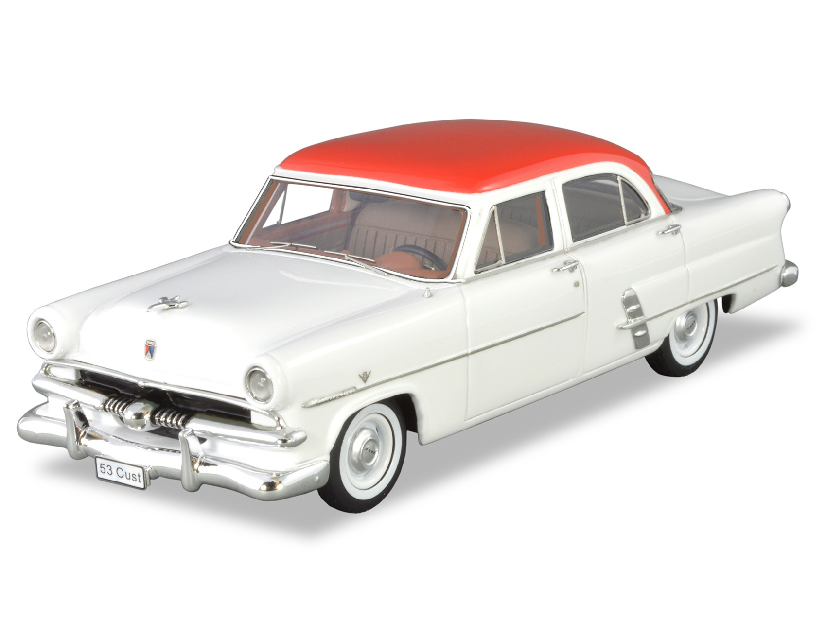 1953 Customline Sedan – White / Red (LHD)
