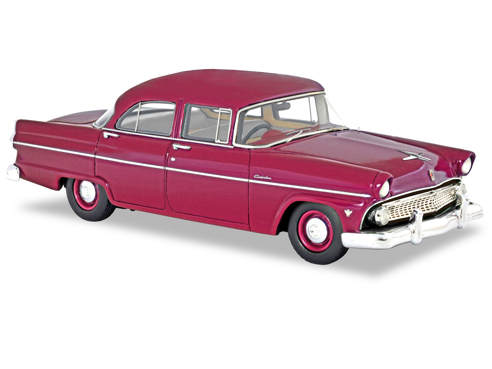 1955 Customline Sedan – Torch Red