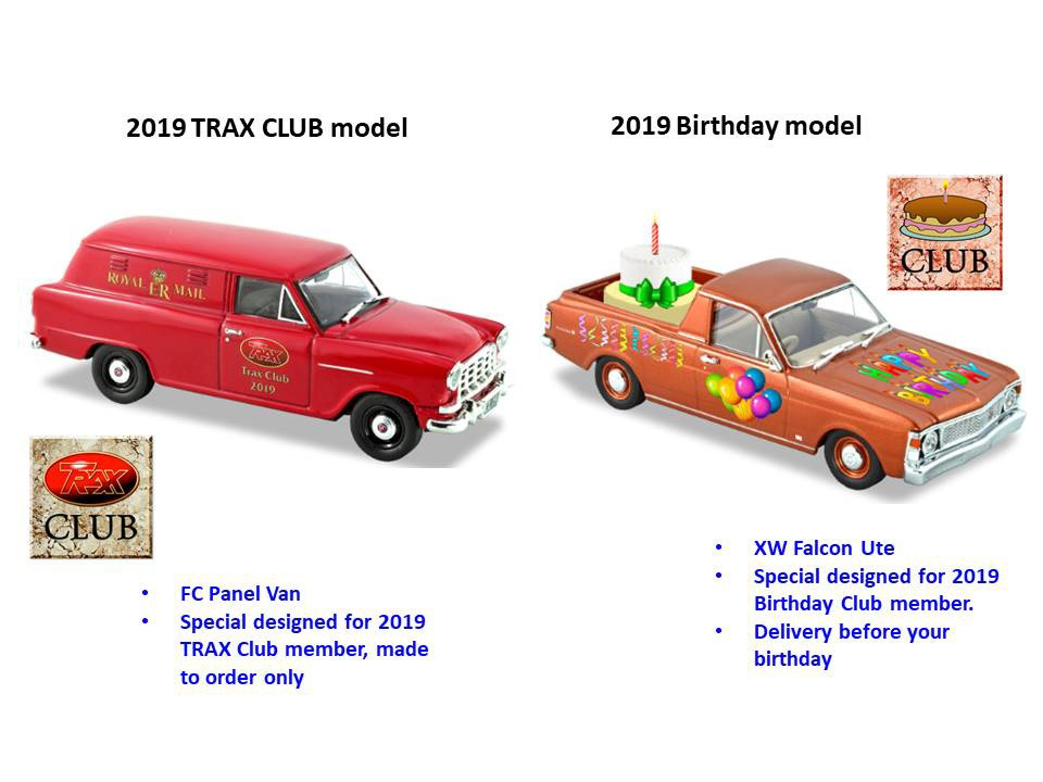 2019 Trax Club & Birthday Club – International