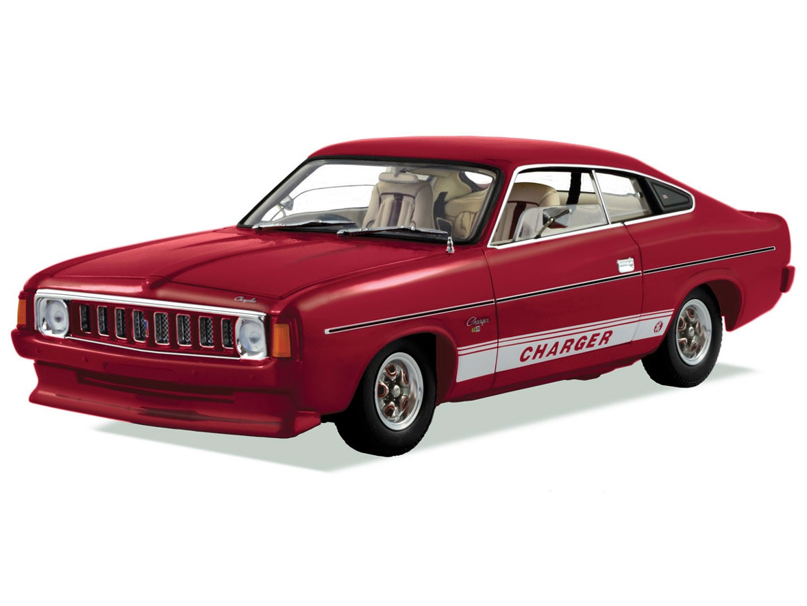 1976 VK Chrysler Charger (White Knight Special) – Amarante Red