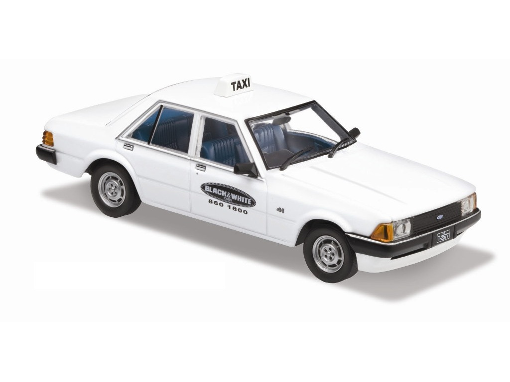 1980 Ford XD Falcon – Taxi In Red / White / Black Set