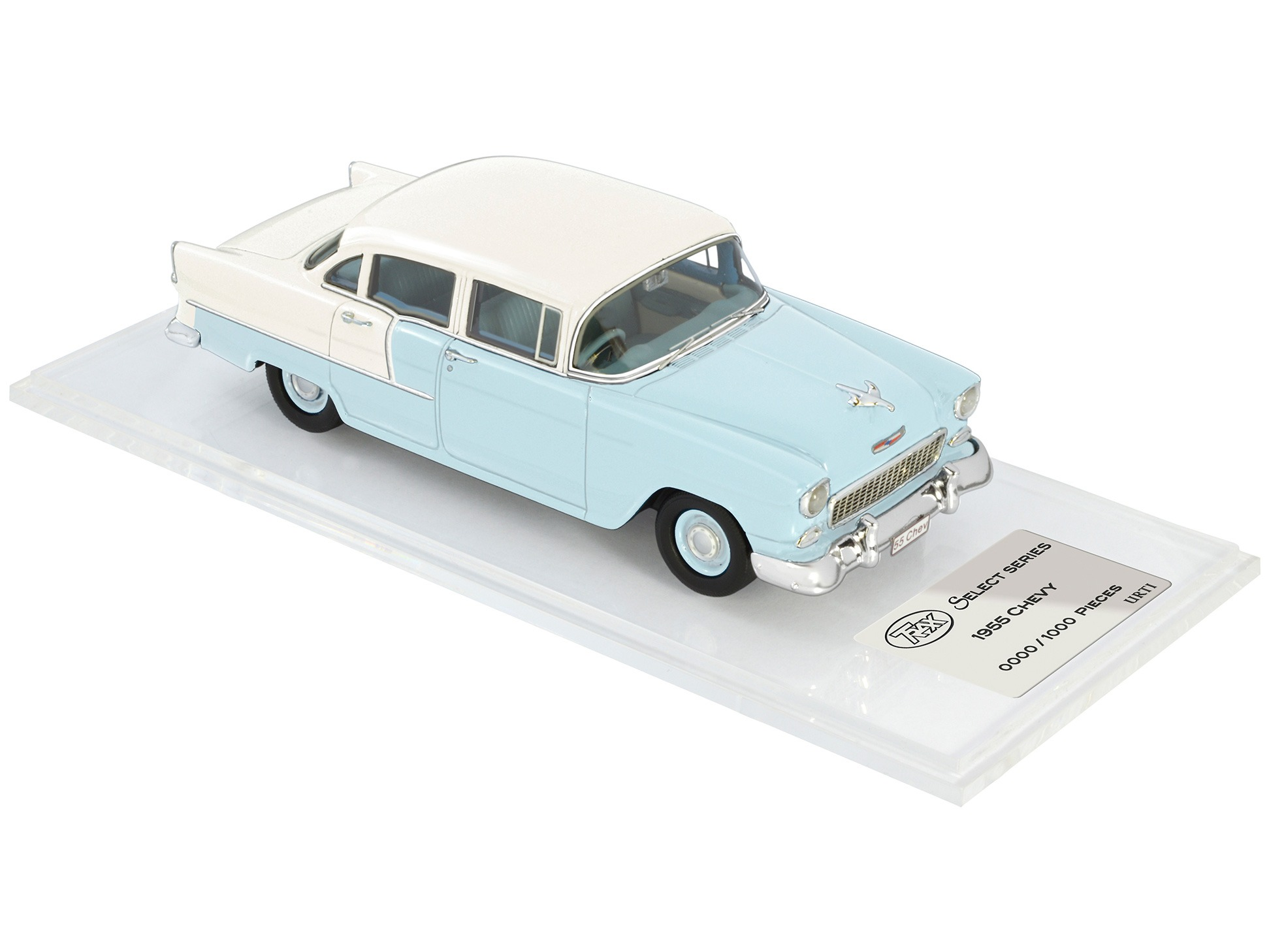 1955 Chevy – Skyline Blue / India Ivory