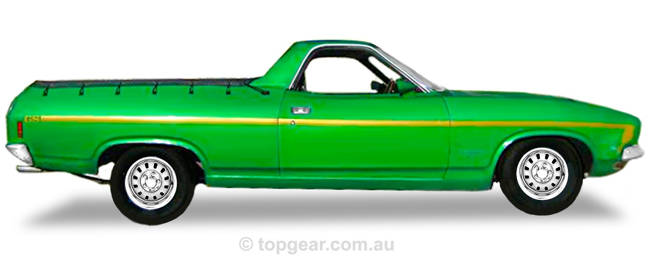 Ford XB GS Ute – Calypso Green With Gold Stripe