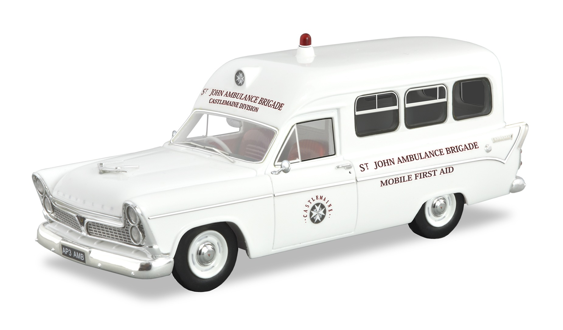 1961 AP3 Chrysler Ambulance – White.