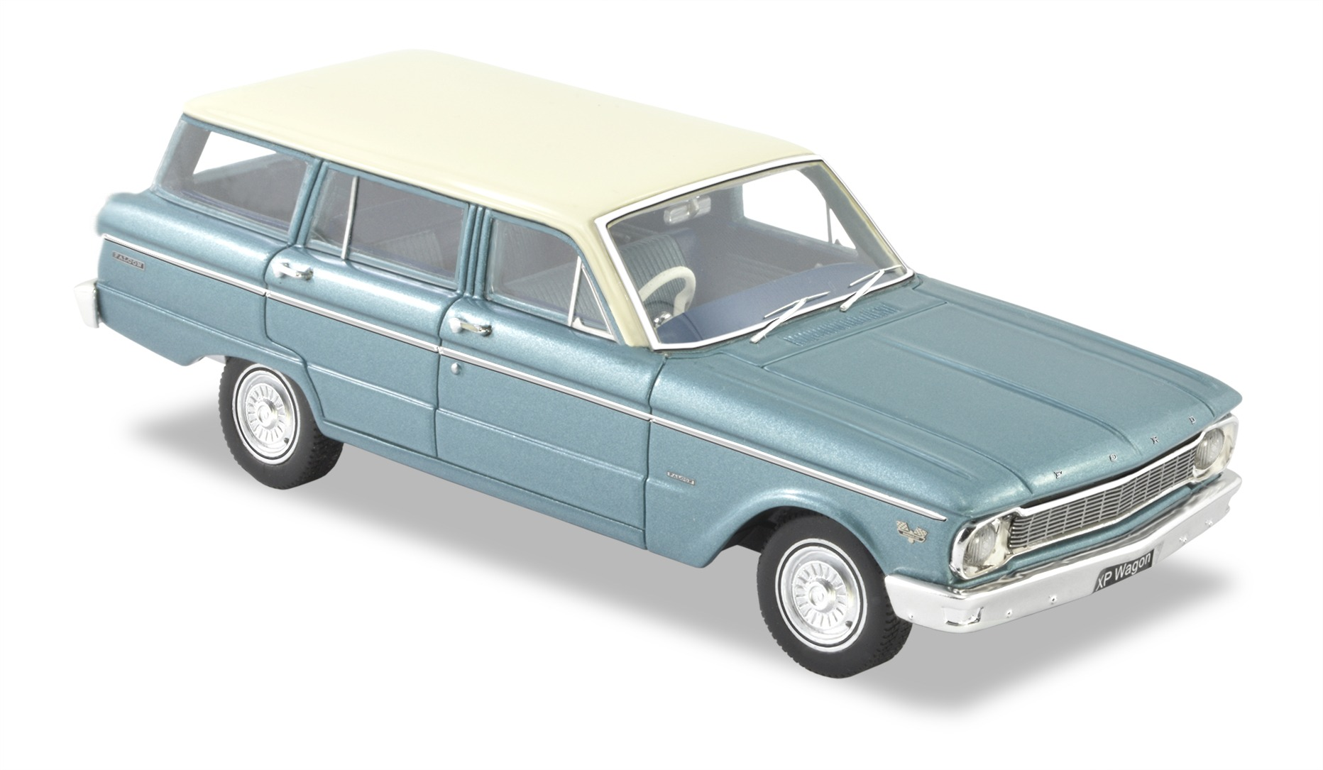 1965 Ford XP Falcon Deluxe Station Wagon – Silver Blue.