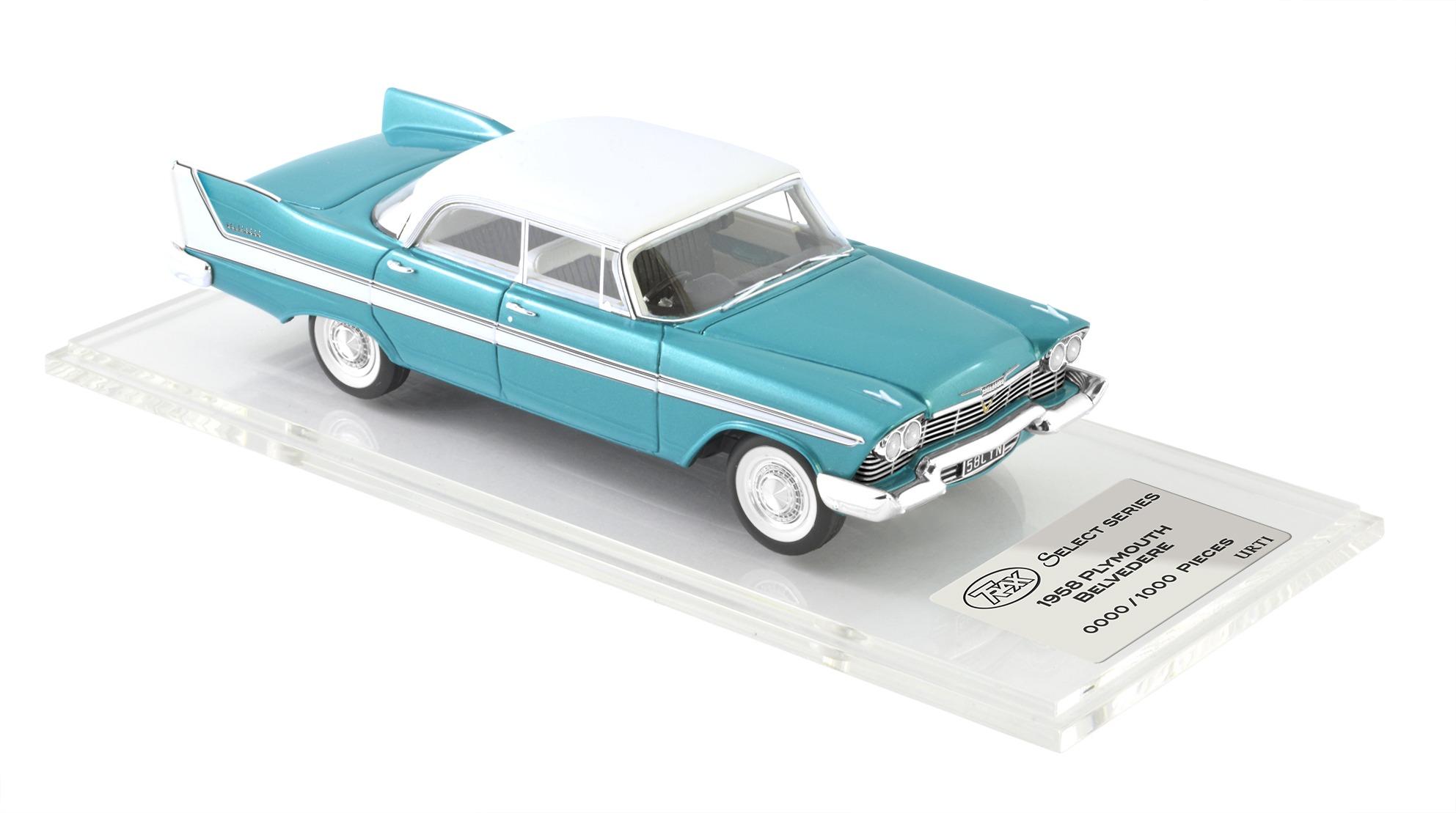 1958 Plymouth Belvedere Hardtop 4 Door – Turquoise / White