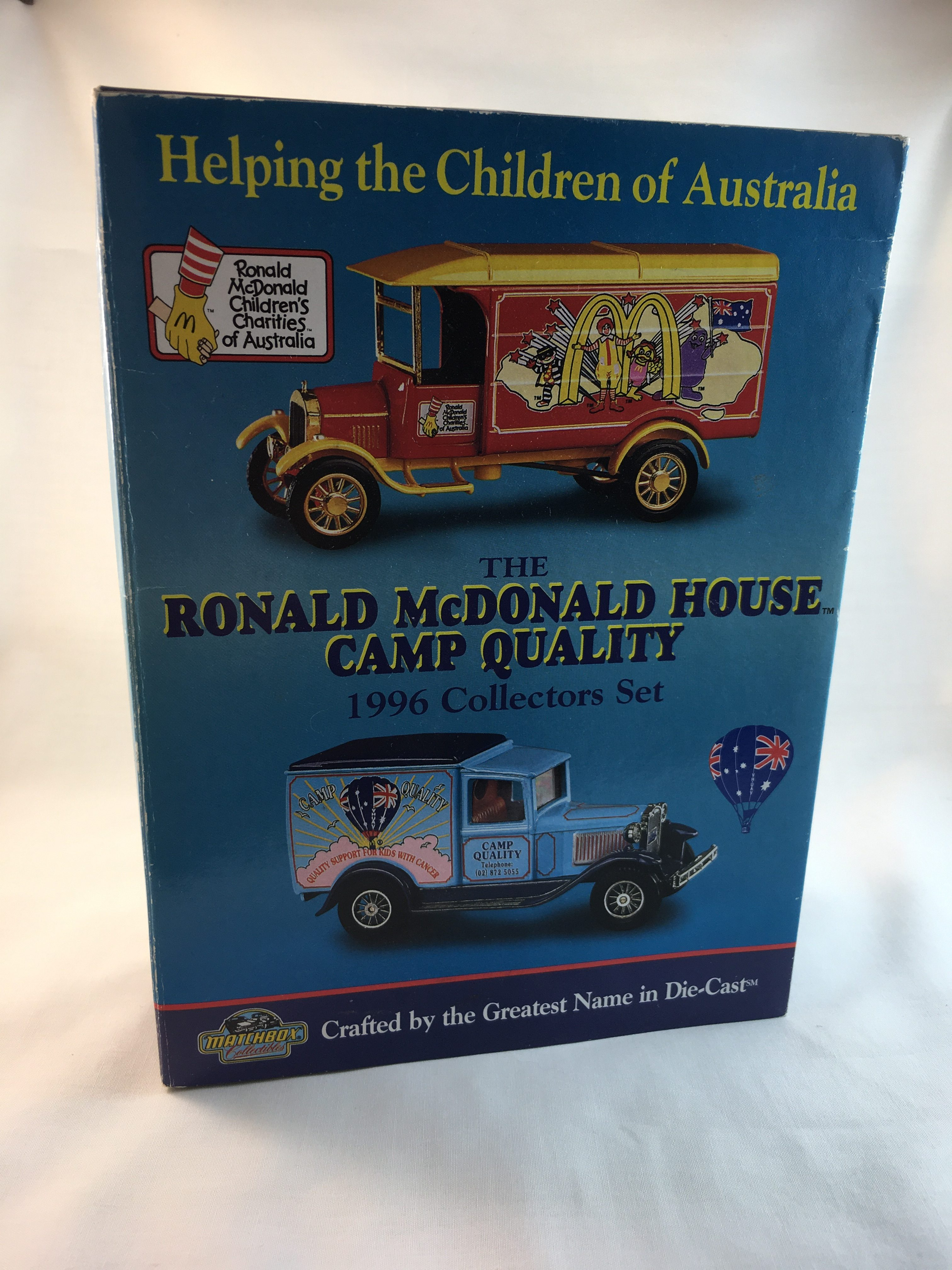 Ronald Mcdonald House Camp Quality 1996 Collectors Set