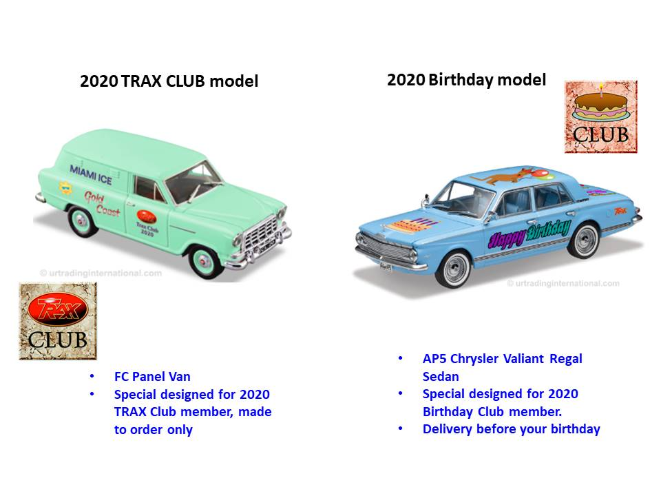 2020 Trax Club & Birthday Club – Australia