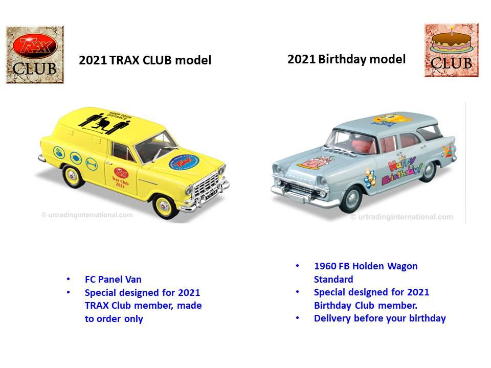 2021 Trax Club & Birthday Club – International