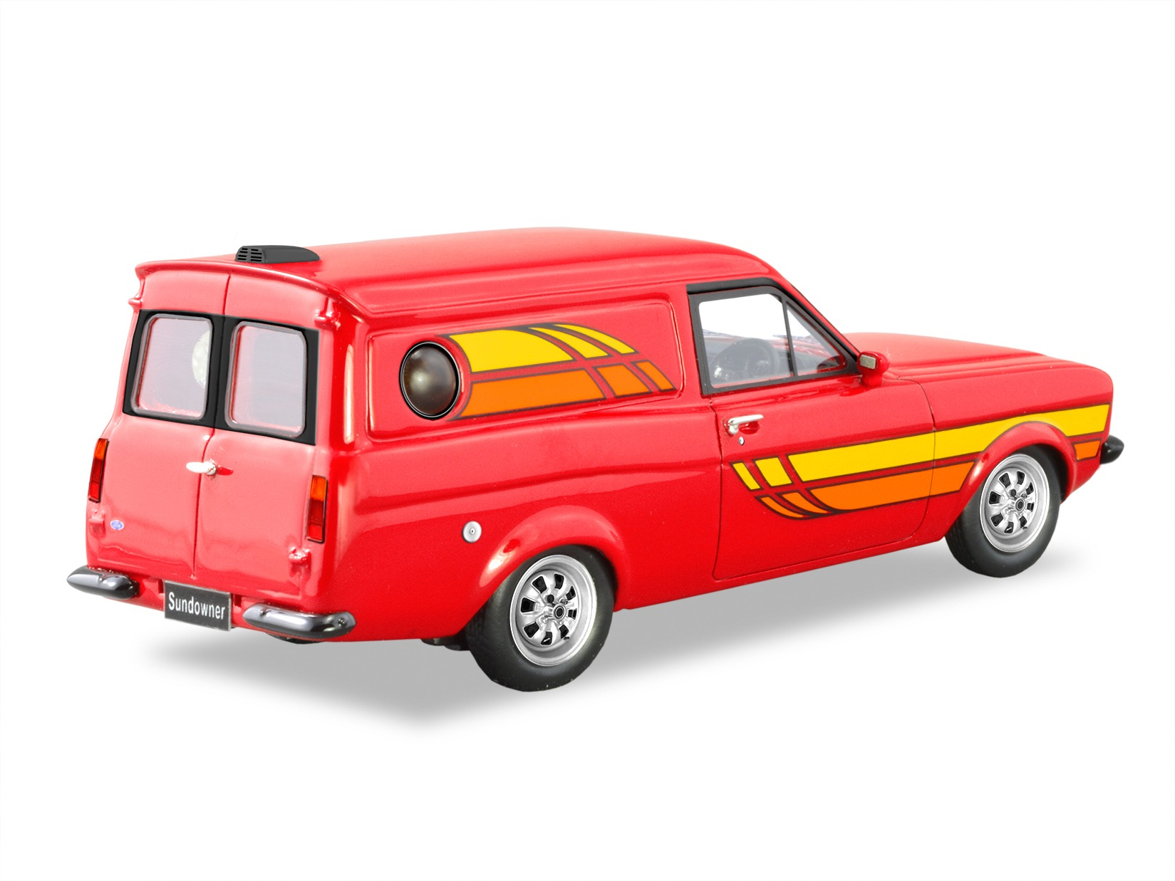 1978 Ford Escort Sundowner Panel Van – Red Flame
