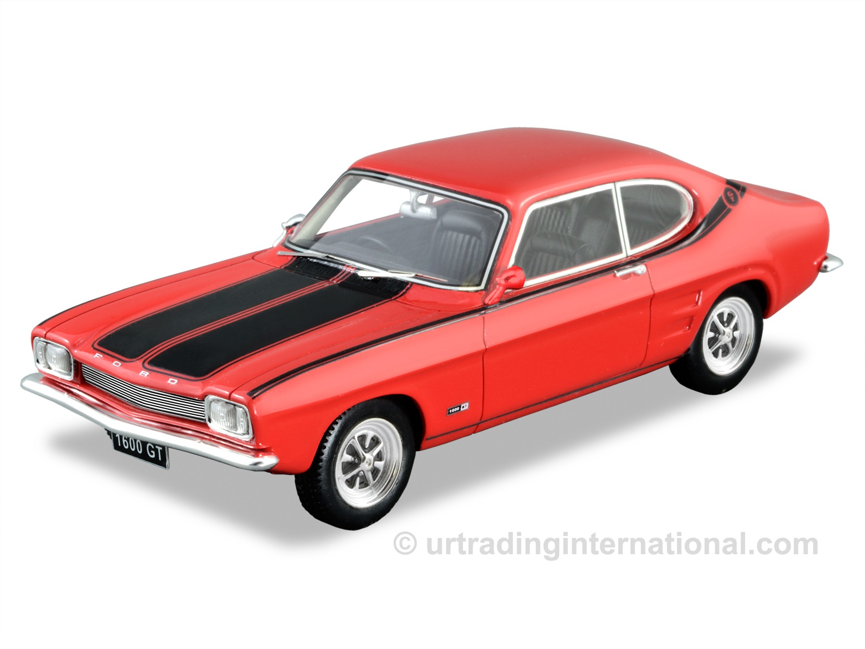 1969 Ford Capri 1600 GT – Vermillion Fire / Black Stripe