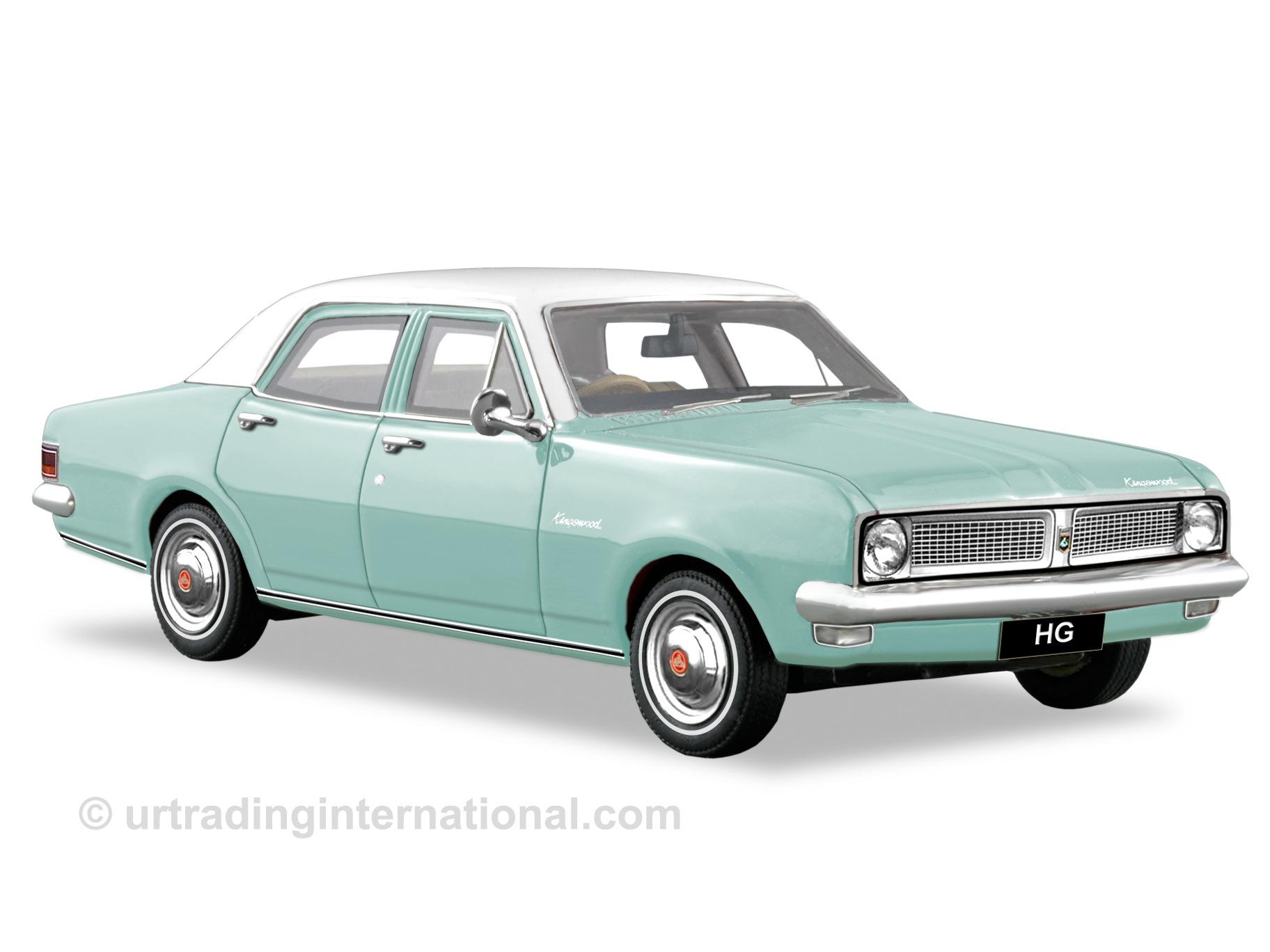 1970 HG Kingswood Sedan – Caribe Aqua / Kashmir White Roof