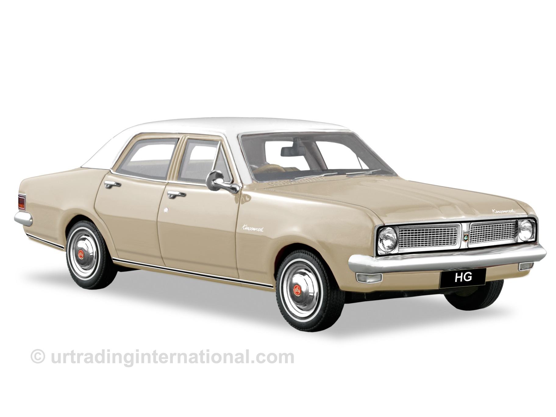 1970 HG Kingswood Sedan – Sundan Beige / Kashmir White Roof