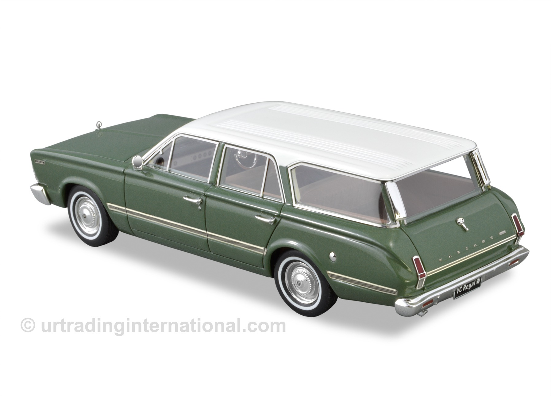 1967 VC Valiant Regal Safari Wagon – Olive Green / White Roof