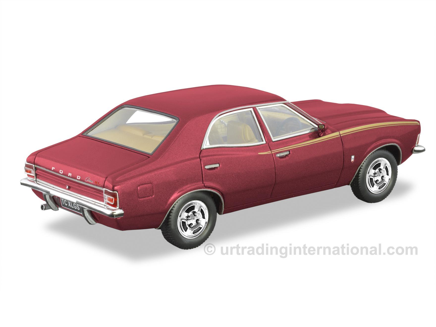 1972 TC Ford Cortina XL Sedan – Bronze Wine Metallic / Gold Stripes