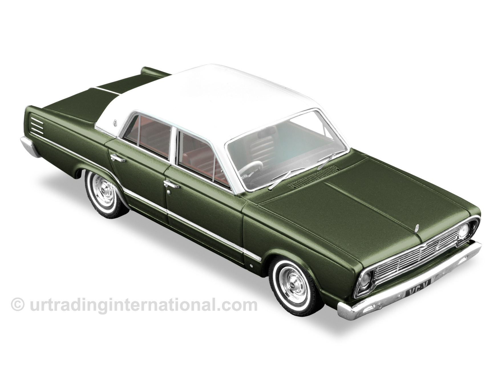 1967 VC Valiant – Burnish Olive Metallic / White Roof
