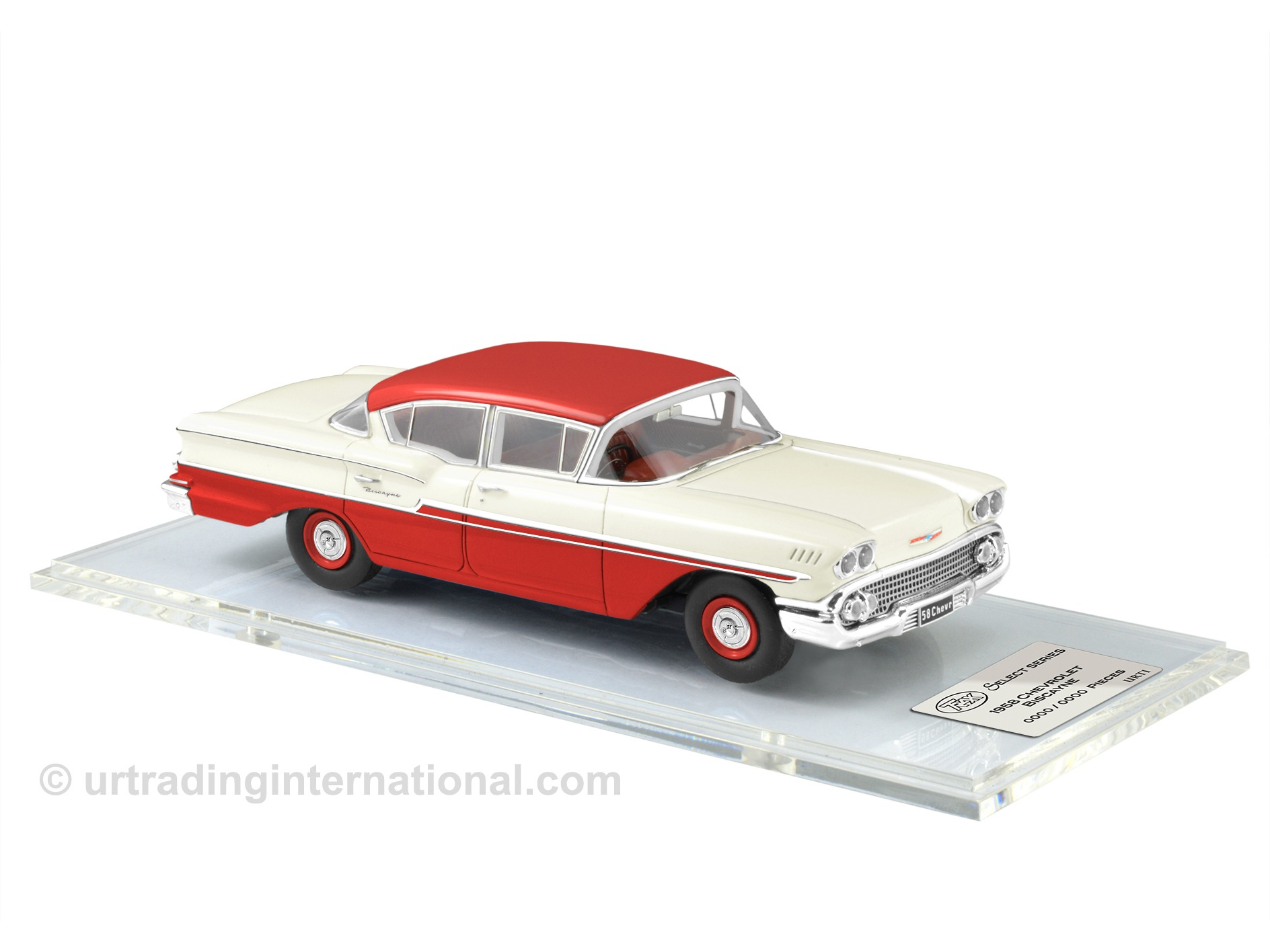 1958 Chevrolet Biscayne – Arctic White / Red