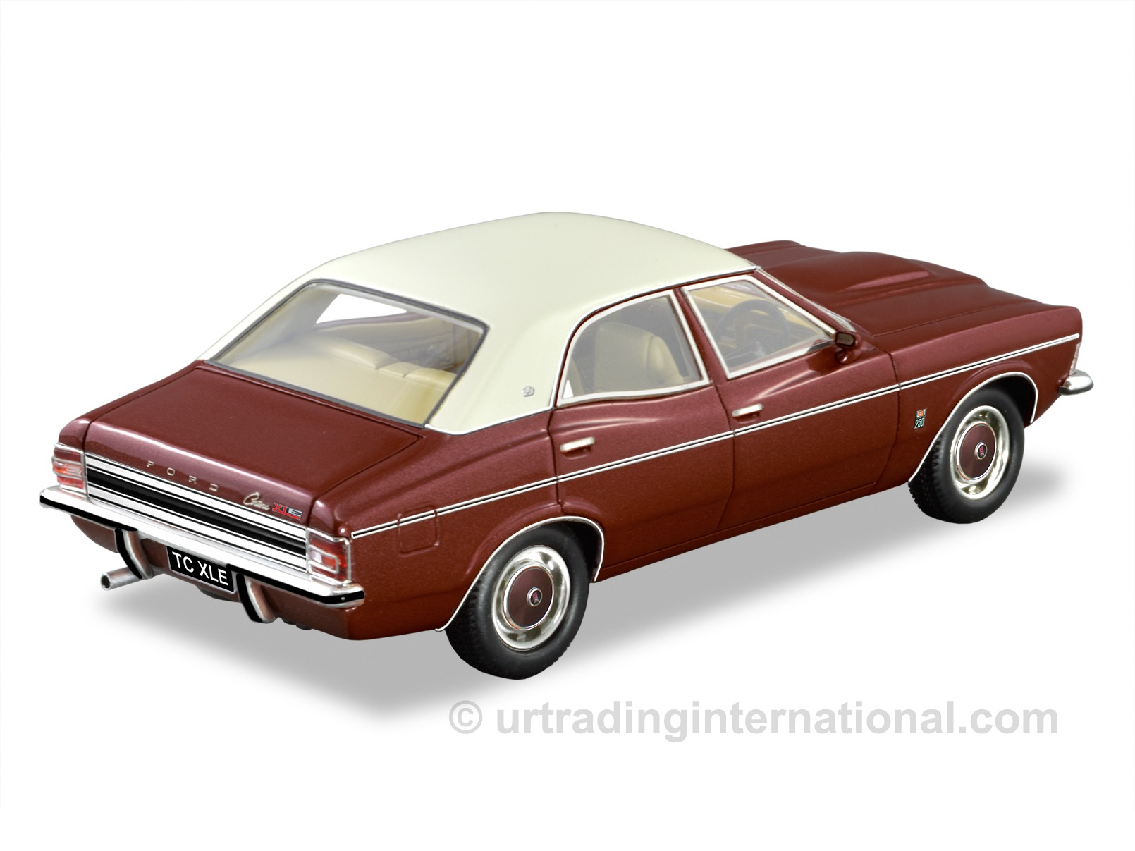 1972 Ford TC Cortina XLE – Vintage Burgundy Metallic