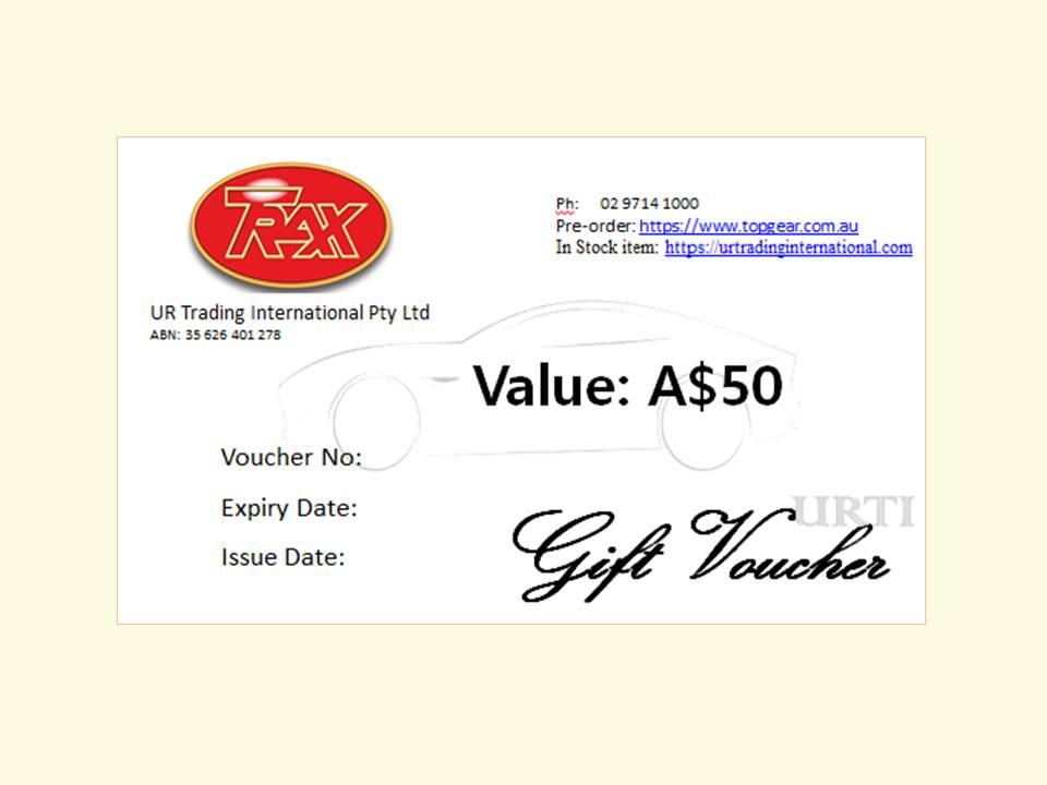 TRAX Gift Voucher A$50